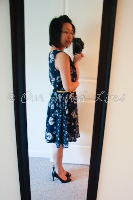 Jason Wu Target Navy Floral Dress 3