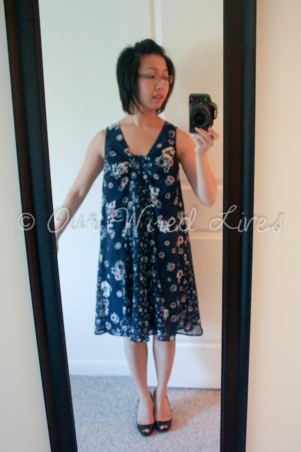 Jason Wu Target Navy Floral Dress 4