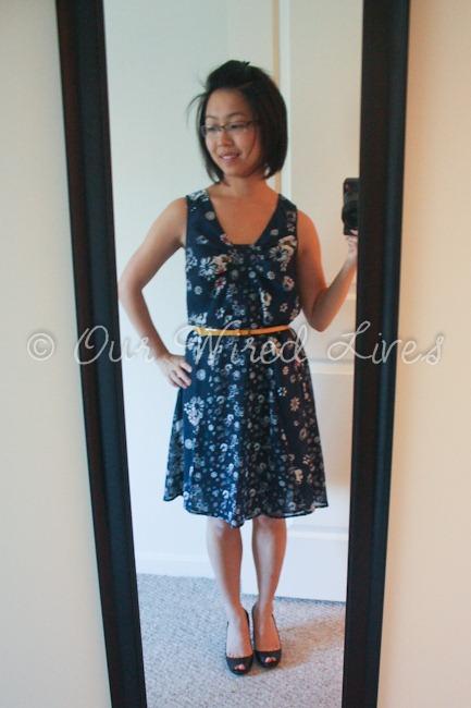 Jason Wu Target Navy Floral Dress