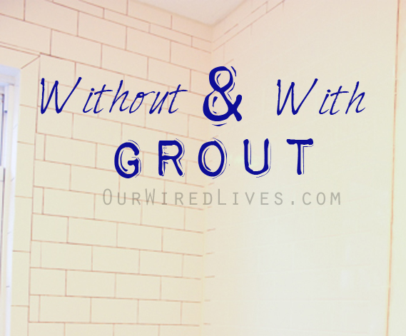 Grout line colors our wired lives for Bathroom floors without grout