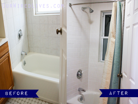 Bathroom Shower Before & After | Our Wired Lives