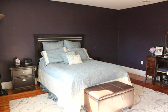 eggplant purple bedroom painting stencil reveal our