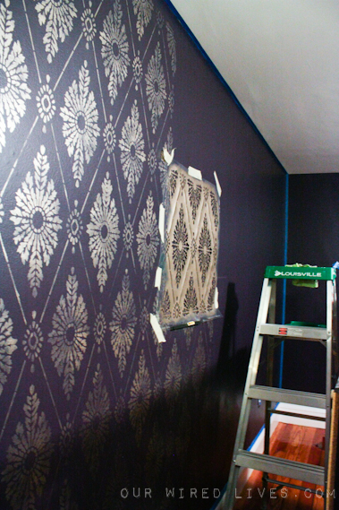 Eggplant Purple Bedroom Painting Amp Stencil Reveal Our